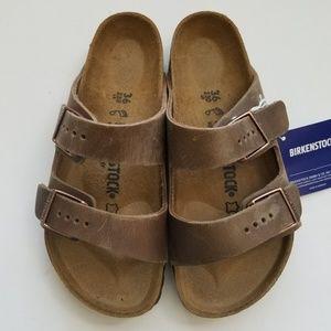 Birkenstock Arizona Tobacco Leather Sandals 36